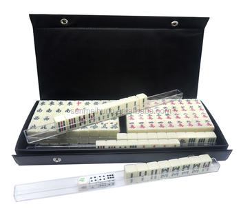 20 14 12 mm mini ivoire mahjong ensemble avec noir imitation bo te en cuir - Mahjong noir et blanc ...