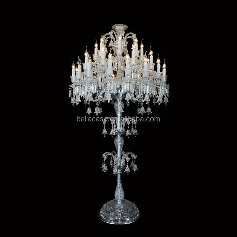 3 Schichten Baccarat Kristall Kronleuchter Stehlampe