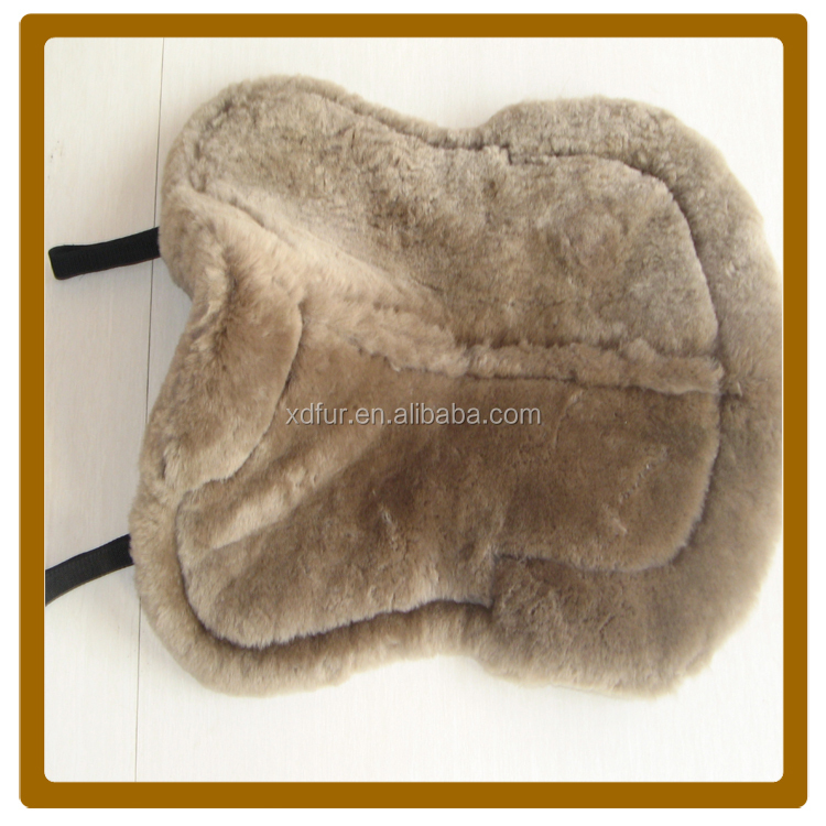 China Factory 100% sheepskin saddle pad,the sheepskin half numnah