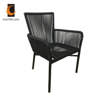 Anti-aging Japanese Cafe Restaurant Coffee Shop Outdoor Furniture Aluminum Rattan Chairs