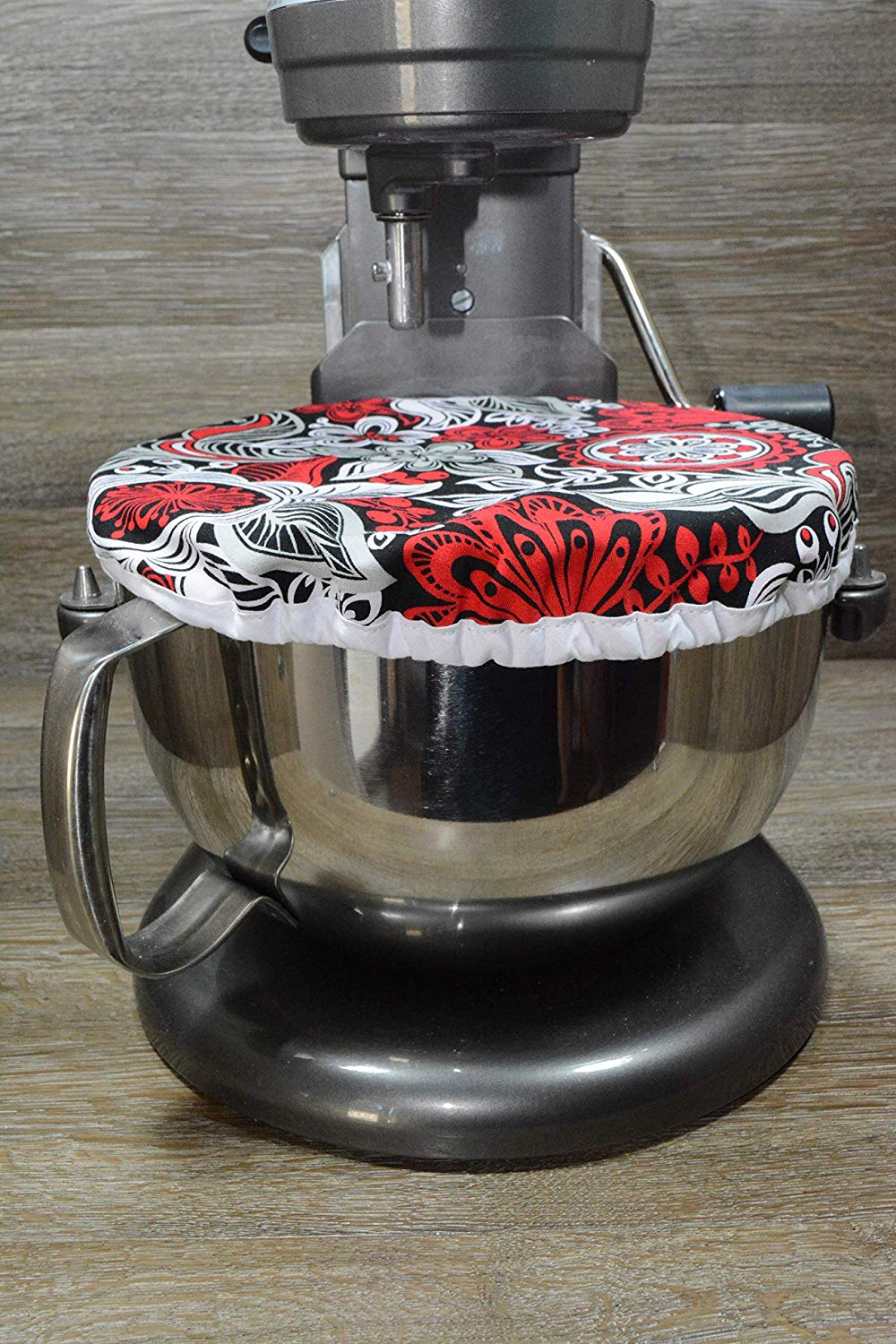 Eco-Friendly // Reusable // Medium Bowl Cover // Stand Mixer Cover // Rockin Red Floral