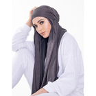 2019 Fashion suede solid color hijab bandag long scarf women hijab bandana