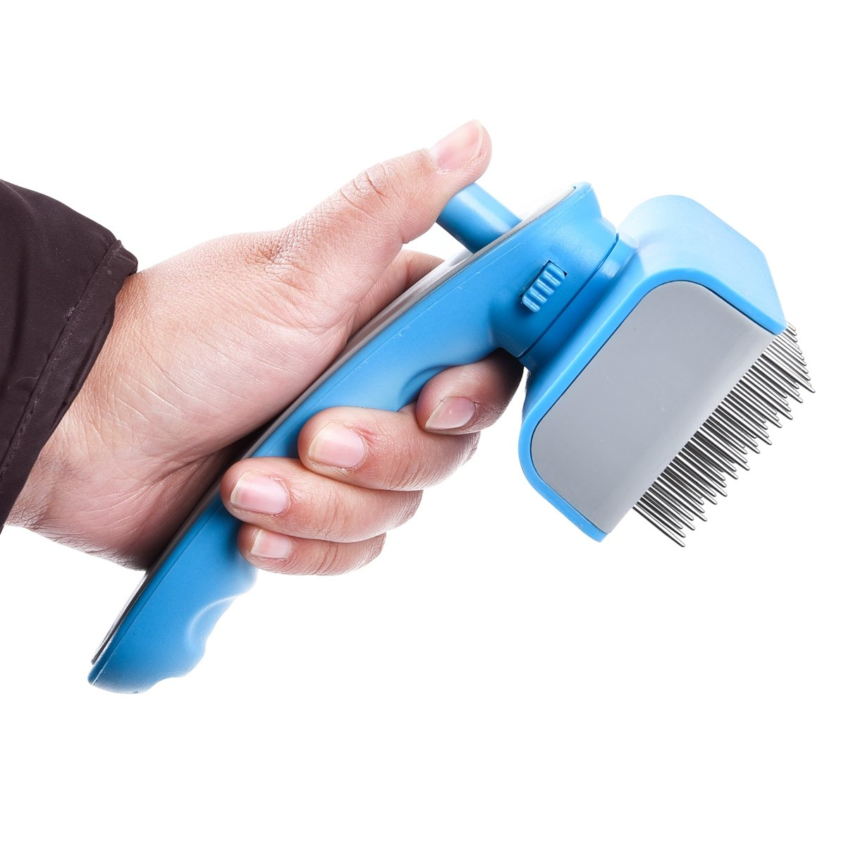 Dog Grooming Brush, Speedy Pet Self Cleaning Pet Slicker Brush Shedding Tools for Cats Dogs with Short / Long Thick Hair