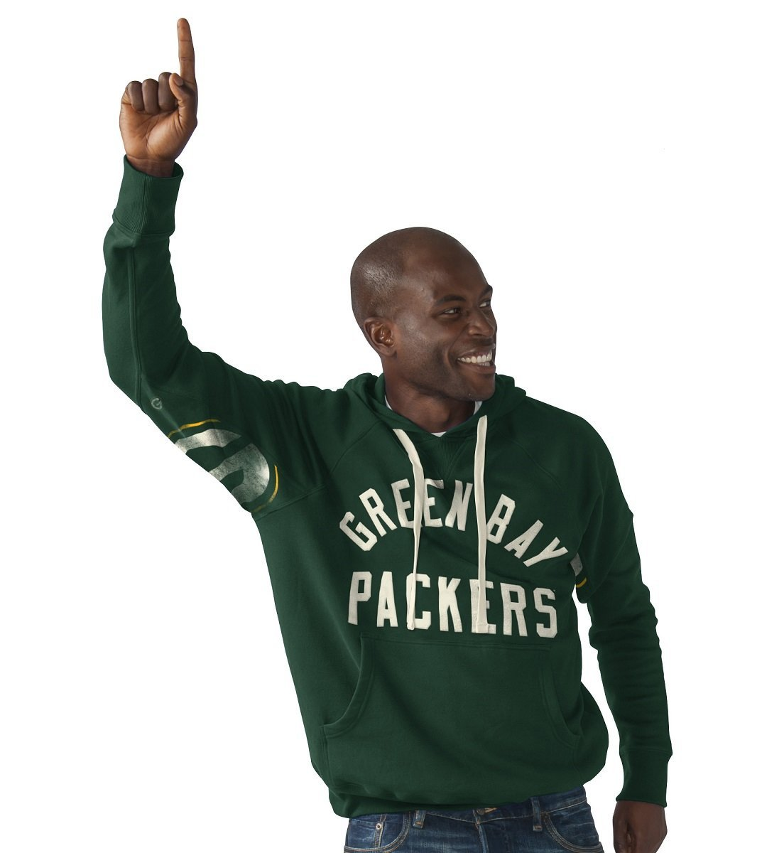 Get quotations · nfl green bay packers hands high pullover hoodie