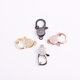 Stainless steel cz pave lobster clasp clip for necklace and bracelet jewelry accessories