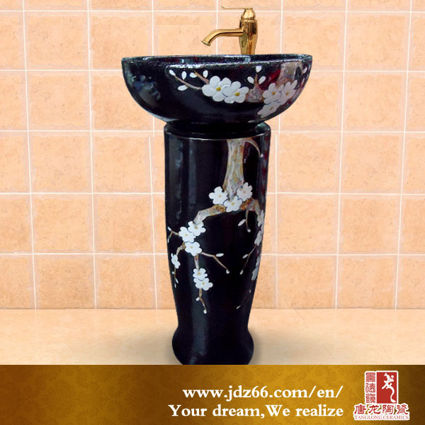 Unique Round Jade Hand wash basin pedestal