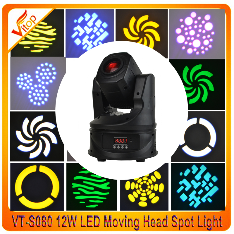 New LED Mini Moving Head Spot Light 12W with Manual focus and Half-color effect