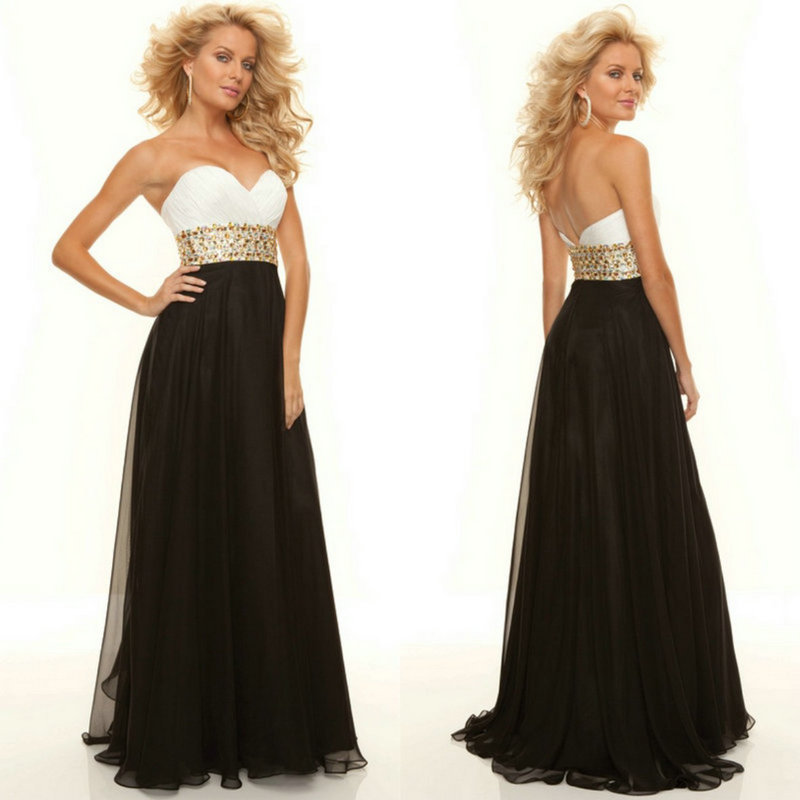 Cheap Price 2015 New Trend With Gold Beading Long Chiffon