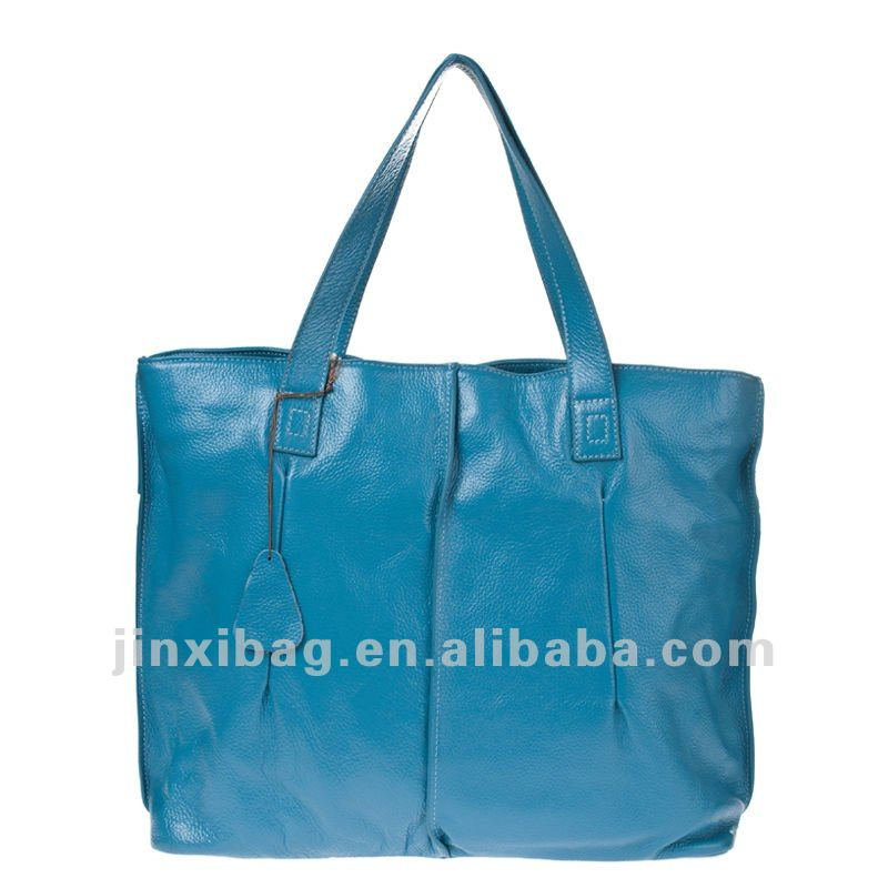 2012 Ladies fashion big genuine leather tote bag
