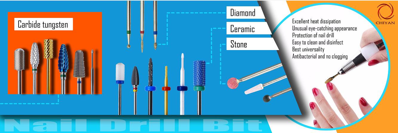 Cutícula giratória dos bocados de broca cerâmicos limpa para ferramentas do tratamento de mãos do salão de beleza do prego