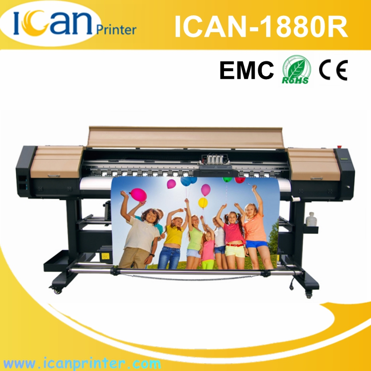 ICAN-1880R New products photo magnet printer 1.88m 4 heads corrugated cardboard digital oil painting printing machine