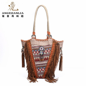 Bohemian Handbags Pu Leather Bags With Banjara Textile Embroidered Bag Boho Hippie Indian