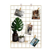 <span class=keywords><strong>Draad</strong></span> Muur Grid Panel Foto Opknoping Display Metalen Rooster Muur Decor Organisator Mesh Panelen Display Wall