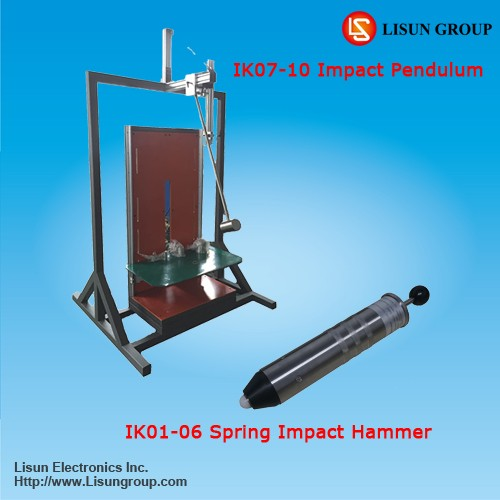IK impact test chamber on lighting luminaires testing according to IEC60598 and IEC60068-2-75