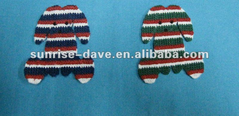 Cotton Crochet Dog Patches For Clothing
