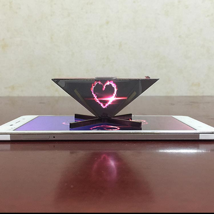 2018 3d hologram advertising holographic acrylic pyramid display projector world cup