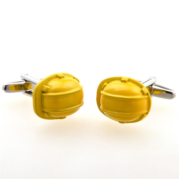 Wholesale Gentleman's Hat Engineer Safety Cap Cuff Links