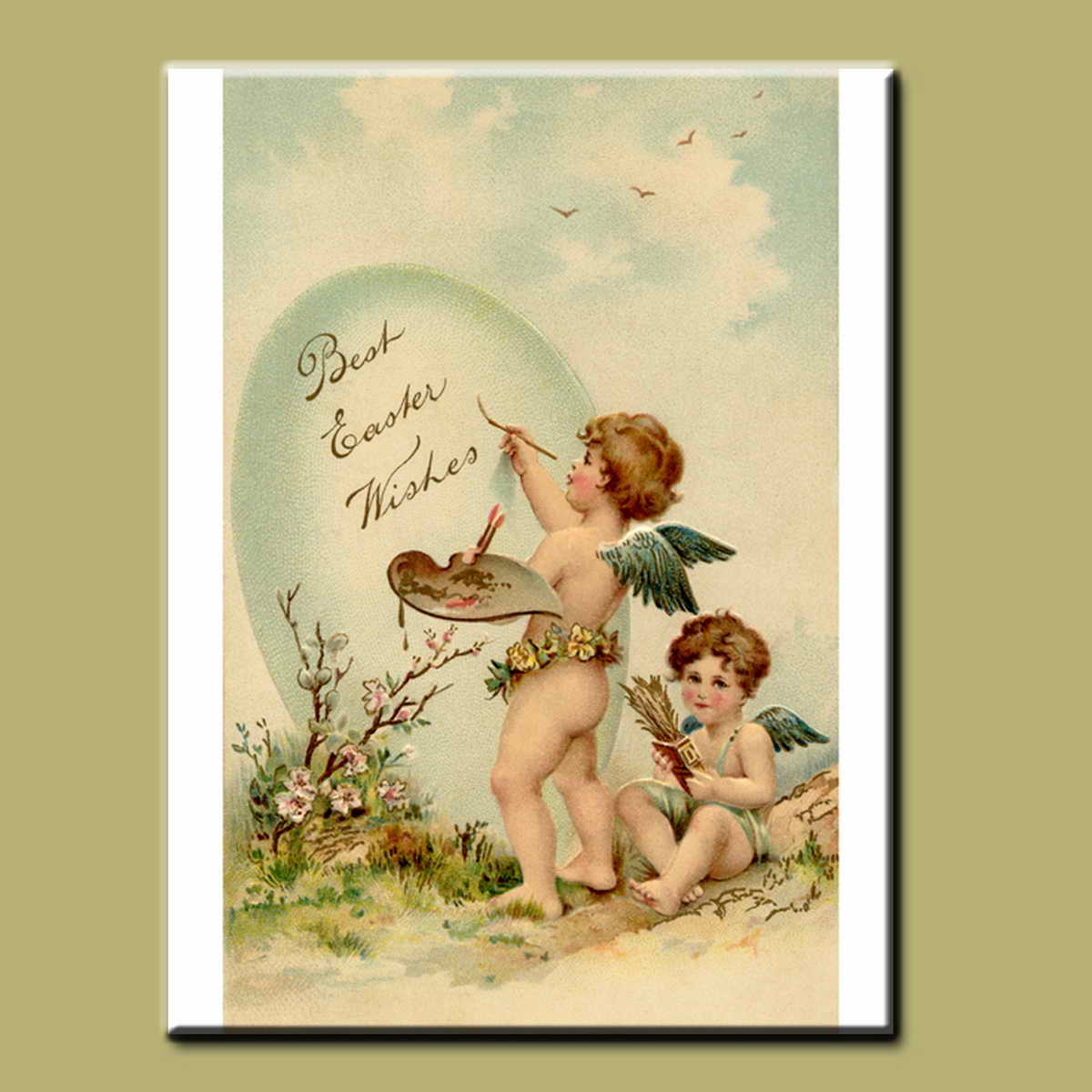 Handmade high quality Classic famous angel paintings of Vecellio