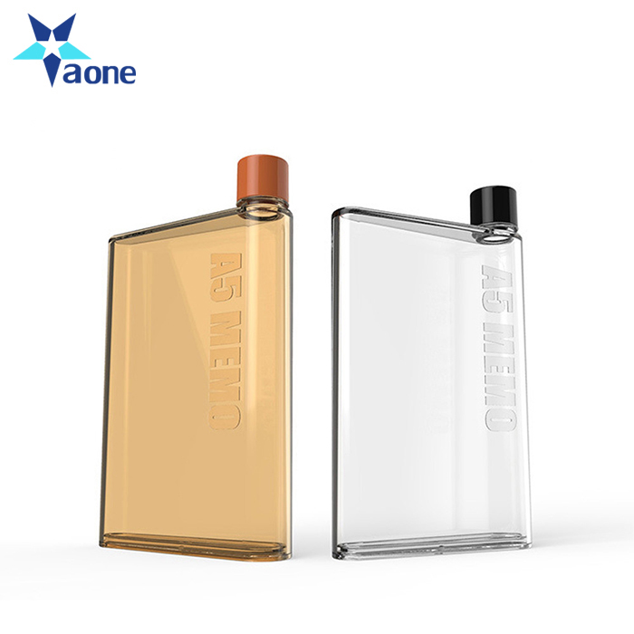 LOGO Print Clear Book Portable Paper bottle Pad Flat Drinks Hiking Hand bottle Kettle Creative Gift A5 Notebook Water Bottle