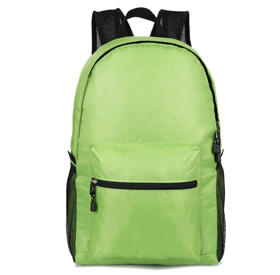 NDY Multicolor Oxford Cloth Backpack Ultra Light Folding Bag Skin Bag Waterproof Wear-Resistant Shock-Proof Breathable Outdoor Travel Hiking Casual Backpack