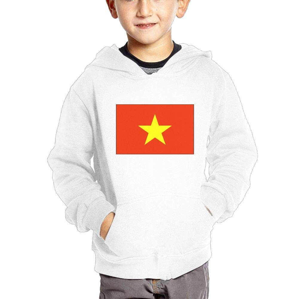 JIANGSHAN Vietnam Flag Fashion Hooded Pocket Sweater for Children Spring//Autumn//Winter Outfit Long-Sleeved Hoodie
