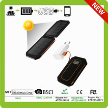 foldable solar power charger for GPS-navigators, portable gaming systems, most digital gadgets
