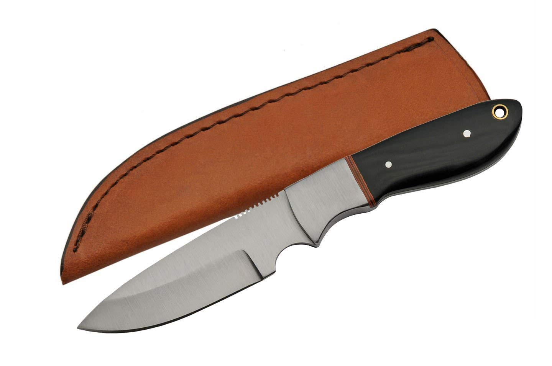 SZCO Supplies Full Tang Horn Skinning Knife Hunting Knife