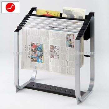 Japanese High Quality Furniture Modern Library Magazine Rack with Newspaper Holders
