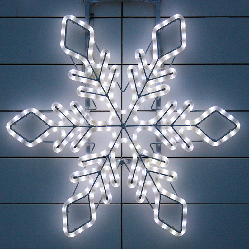 Outdoor white color LED flash snowflake Christmas lights building decoration