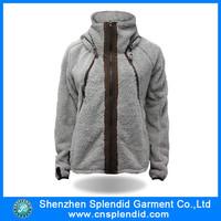 Wholesale women cute zipper thumb hole hoodie