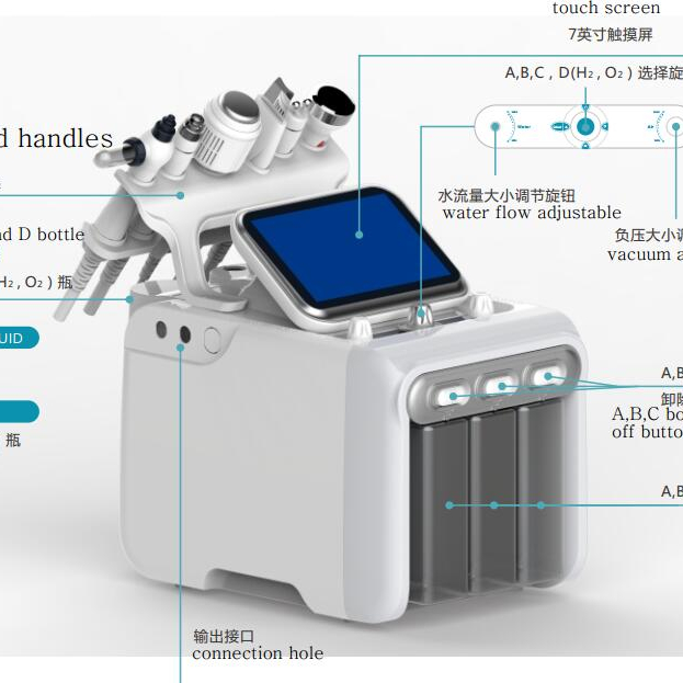 nv-w05x 2018 the newest hydro oxygen rejuvenation /hydrogen generator cleaning beauty machine with CE