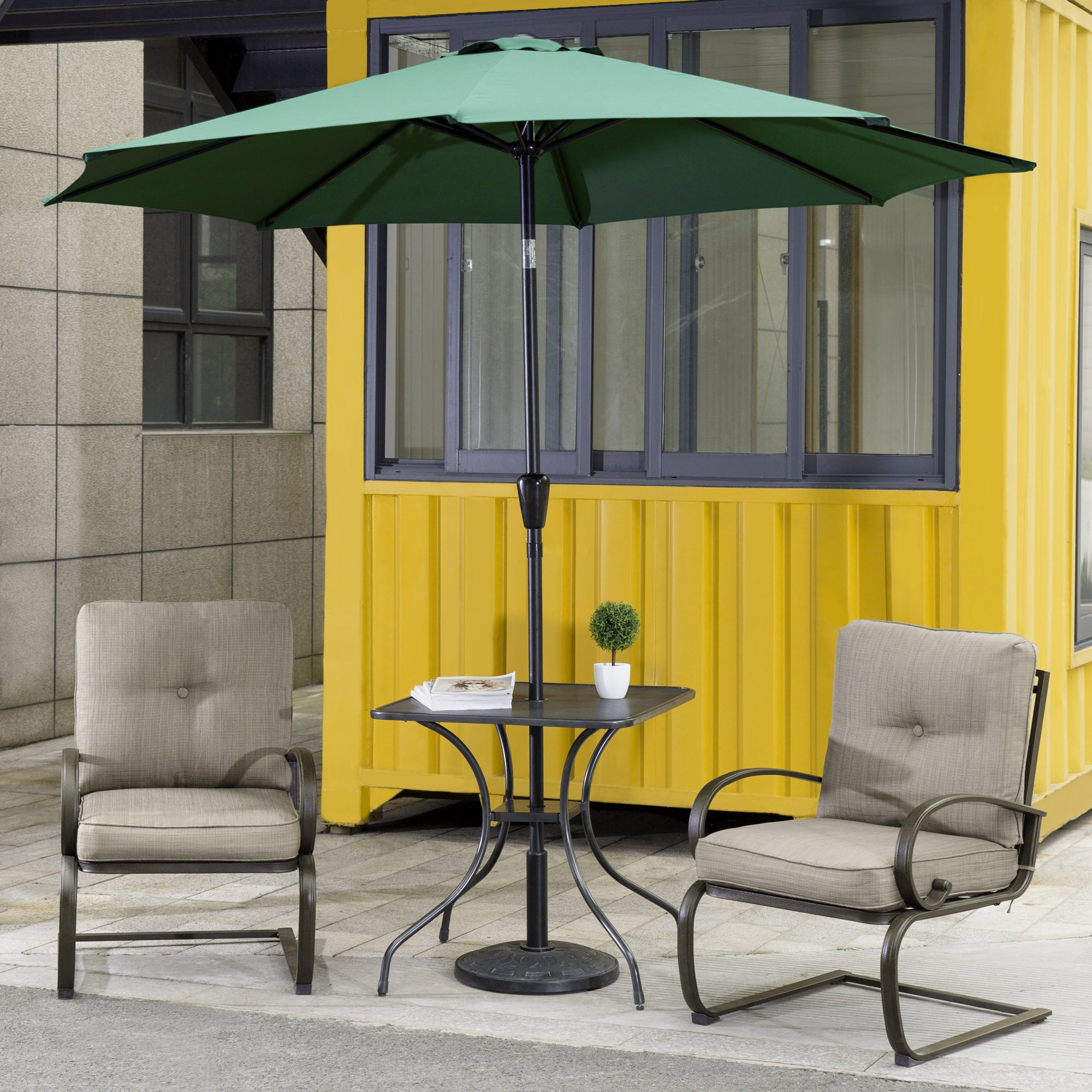 Get Quotations Cloud Mountain 4 Piece Patio Bistro Set Outdoor Umbrella Furniture Wrought Iron