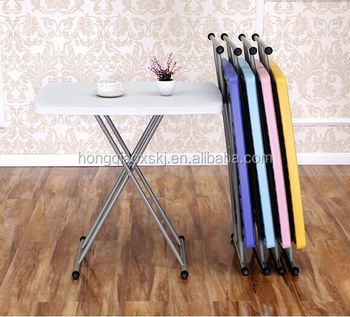 Easy Adjustable Folding Table For Dinning And Study, Outdoor Catering Small  Cheap Table, Kids