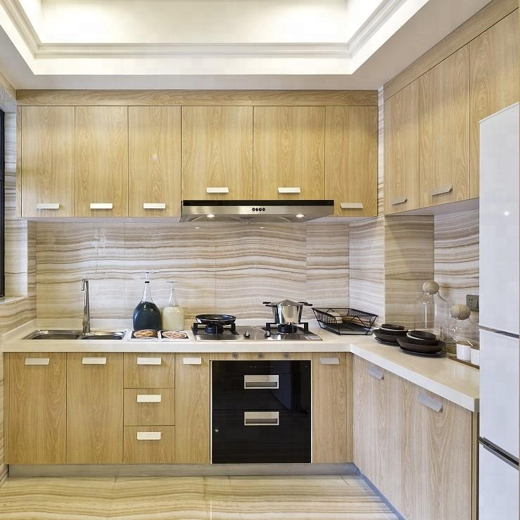 Plywood Modular Kitchen Cabinet Matt Cream Kitchen Units - Buy Plywood  Modular Kitchen Cabinet,Matt Cream Kitchen Units,Plywood Cabinet Product on  ...