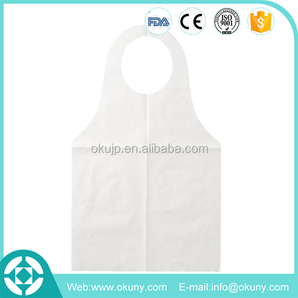 Disposable bbq set with apron non woven material aprons with logo
