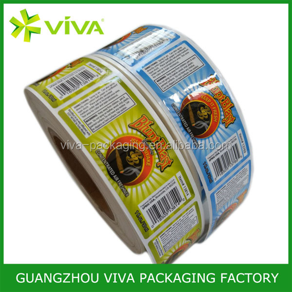 Wateproof Custom Package Label,Full Color Laminated Printing Sticker Food Label