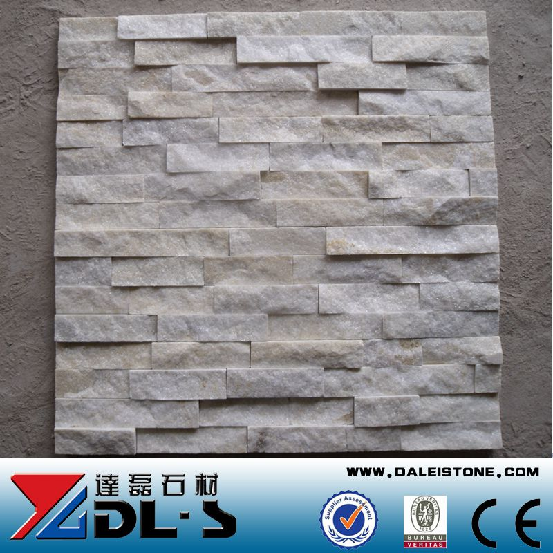 Natural Rough Crystal White Quartz Wall Cladding Stone