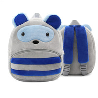 Popular Cute Multicolor Cartoon Animals Customized Plush Children's Kindergarten Backpacks Bag
