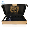 custom foldable corrugated cardboard cheap 6 bottle red wine box
