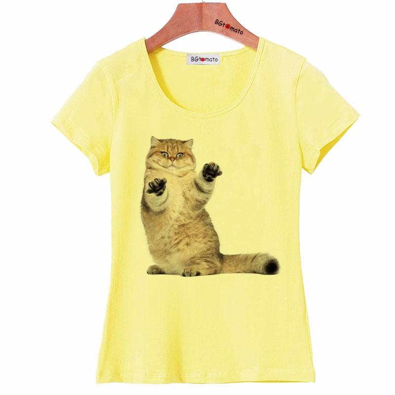 db1fa32a1fb BGtomato Super Cute Little Cat T Shirt Women Lovely 3D Summer Cool ...