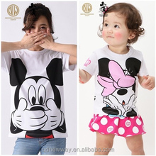 family matching clothing parent-child set couple casual mickey mouse t shirt for women