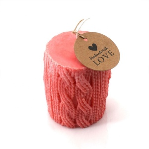 Wholesale New Year High Quality Handmade Craft Scented Pillar Candles