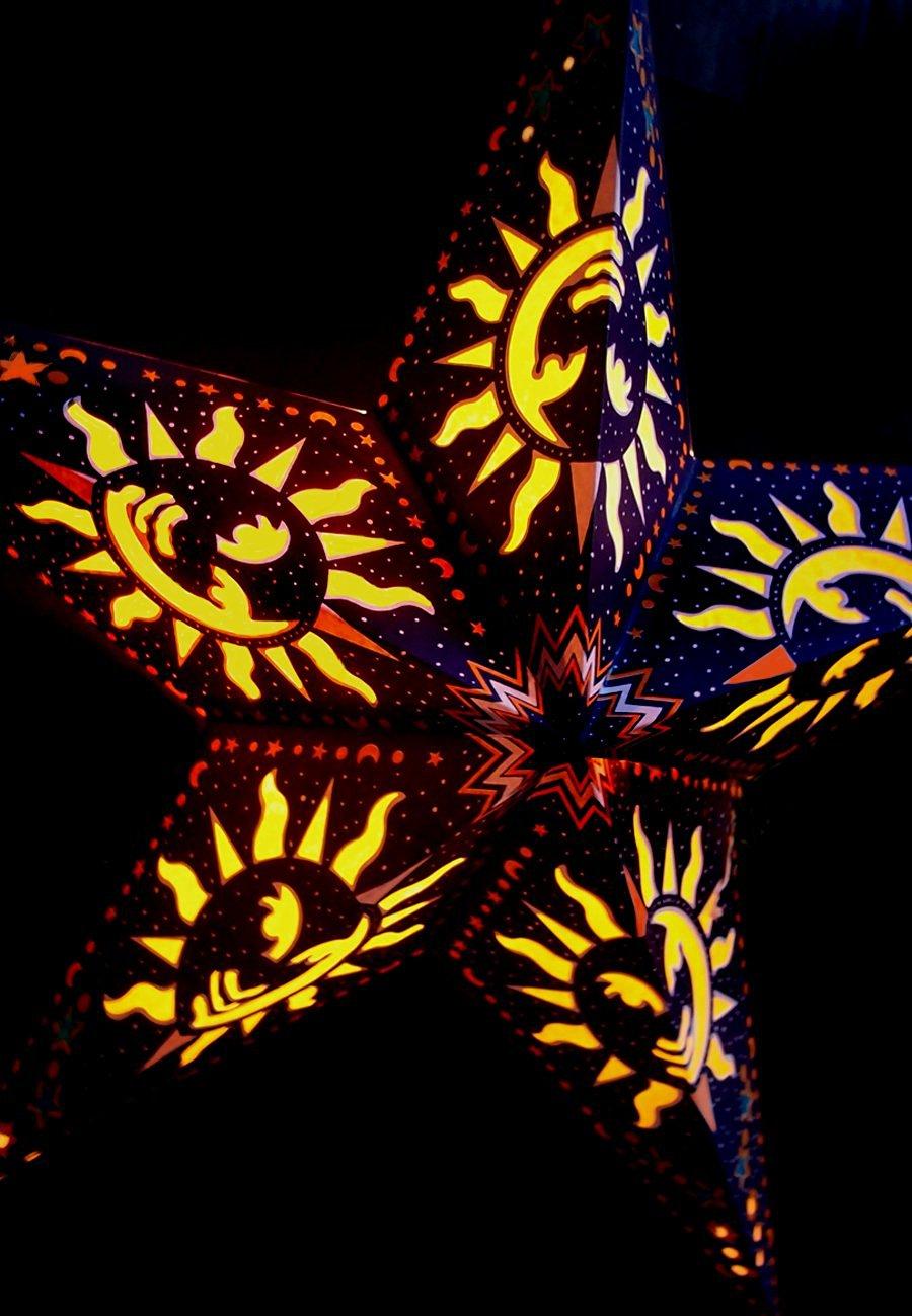 Buy Quasimoon 24 Purple Sun Window Paper Star Lantern Hanging