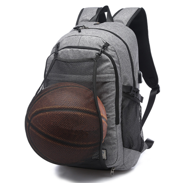 Osgoodway Hot Sale Waterproof Fashion Custom School Basketball Backpack with USB Charge