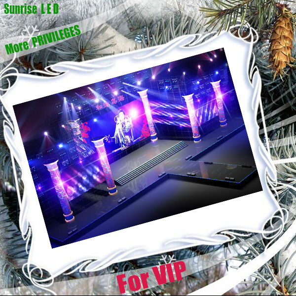 Relatively low cost indoor led rental display screen p2 p3 p6 for stage background