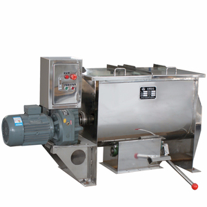 Horizontal industrial heated food powder ribbon mixer