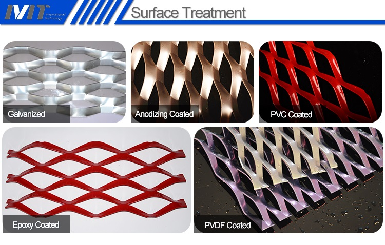 MT Decorative Anodize Aluminum Expanded Metal Mesh for curtain wall