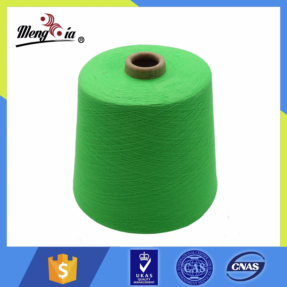 Factory supply Ne30/1 OE carded recycled cotton yarn for towel