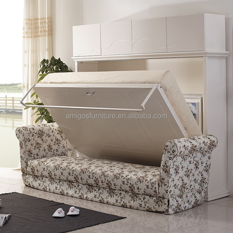 hidden wall double bed