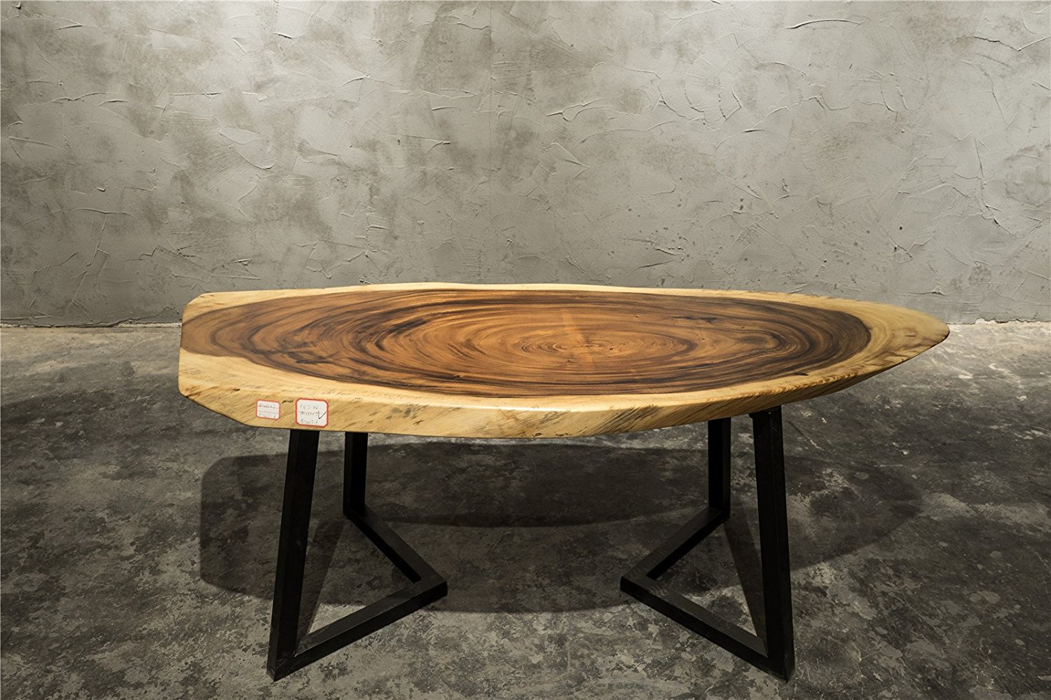 Get Quotations · Distinctive Character Hand Crafted Natural Live Edge  Coffee Table Solid Walnut Wood Slab Unique Style W26